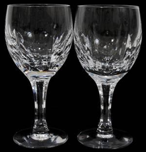 080177 VAL ST LAMBERT CRYSTAL WINE GLASSES TWELVE