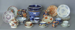 Misc pottery and porcelain to include Gaudy Welsh