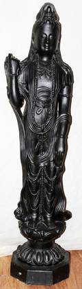 040238 PAINTED COMPOSITION FIGURE OF QUAN YIN 45X 11