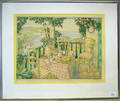 Color engraving titled View From Verandah