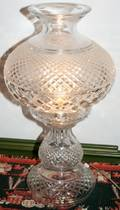 040204 WATERFORD ALANA CRYSTAL TABLE LAMP C1970S