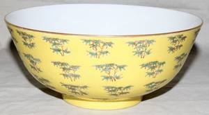 032195 CHINESE FAMILLE ROSE PORCELAIN BOWL H 3 38