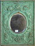 Embossed copper mirror