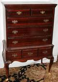 072213 QUEEN ANNE STYLE MAHOGANY HIGHBOY H 55 W 37