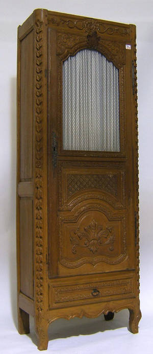 French carved oak armoire