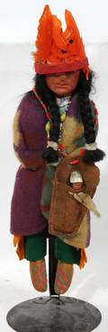 060266 SKOOKUM DOLL WITH PAPOOSE C 1920 H 13