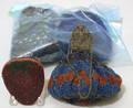 Nine beaded purses