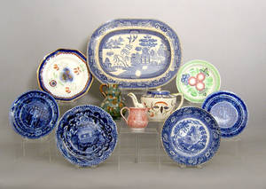 Misc pottery and porcelain to include Staffordshire