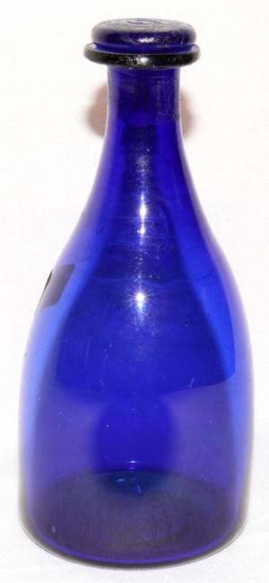 061416 EARLY AMERICAN BLOWN GLASS BOTTLE C 1840