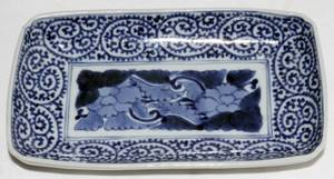 052328 CHINESE BLUE  WHITE PORCELAIN DISH 19TH C W