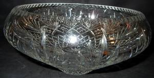 042363 CUT CRYSTAL CENTERPIECE BOWL H 6 DIA 12 12