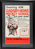 040357 GORDIE HOWE BILL GADSBY AUTOGRAPHED POSTER