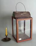 Painted pine lantern