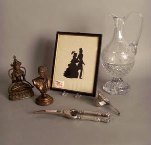 Misc table articles to include cut glass pitcher