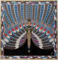 080371 AFTER ERTE THE NILE SILK SCARF H 36 W 35