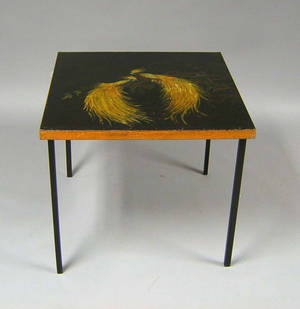Painted game table