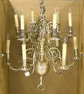 Reproduction brass chandelier