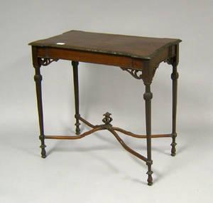 Georgian style mahogany tea table