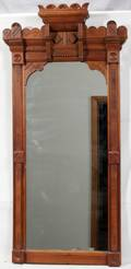 042418 EASTLAKE WALNUT MIRROR 54 X 27