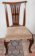 041424 MAHOGANY QUEEN ANNE STYLE SIDE CHAIR 19TH C