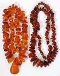 061490 AMBER NECKLACES TWO L 27  31