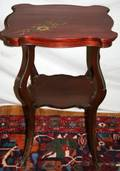 060439 VICTORIAN CHERRY WOOD LAMP TABLE C1900