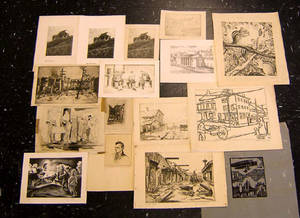 Group of WPA printed works to include examples by Blondheim