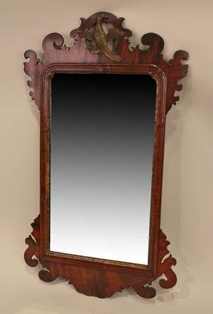 Late 19th C English Mahogany Mirror