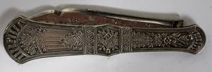081535 ANTIQUE SILVER POCKET KNIFE LATE 19TH C