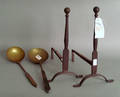 Pair of cast andirons