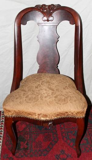 052487 AMERICAN EMPIRE MAHOGANY CHAIRS CIRCA 1840