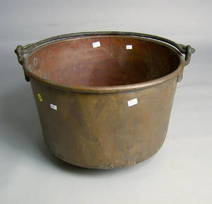 Copper apple butter kettle butter