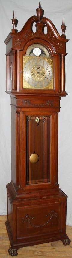 082048 ELLIOT OF LONDON MAHOGANY GRANDFATHER CLOCK