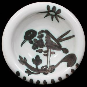 081022 PABLO PICASSO 18811973 BIRD DISH DIA 6