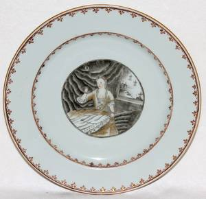 071028 CHINESE EXPORT PORCELAIN PLATE C 1745