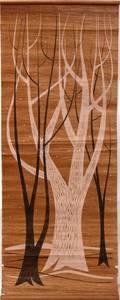 070046 ROSS LITTELL SILKSCREEN 45 X 18 BARREN TREES