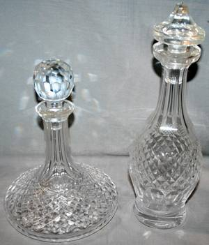 050051 WATERFORD CRYSTAL DECANTERS TWO H 13 10