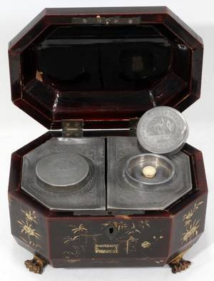 121073 JAPANESE LACQUER TEA CADDY 19TH C