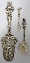 011069 FRENCH SILVER PASTRY SERVER EMILE PUIFORCAT