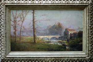 012062 H I MARLATT OIL ON CANVAS C 1900 42 X 72