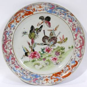 101207 CHINESE PORCELAIN PLATE 19TH C DIA 9 58