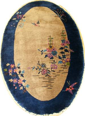 010108 CHINESE WOOL OVAL RUG 3 X 5 3