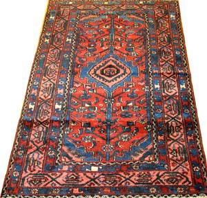 010106 PERSIAN HAMADAN HAND WOVEN WOOL RUG 3 3 X