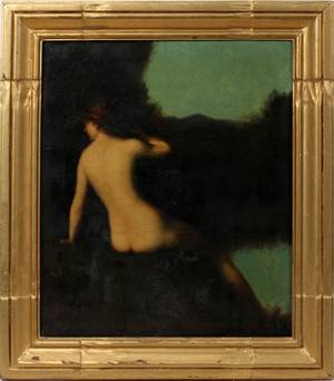 112147 AFTER JJ HENNER OIL ON CANVAS LATE 19TH C