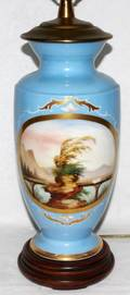 111215 FRENCH PORCELAIN VASE H 12 12 AS A LAMP