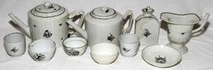 091175 CHINESE EXPORT PORCELAIN TEA WARE LATE 18TH C