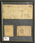 Group of framed ephemera