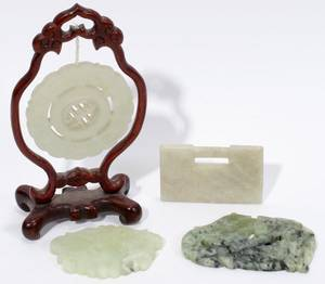 121214 CHINESE JADE CARVINGS FOUR L 23