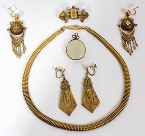 020179 VINTAGE COSTUME JEWELRY NECKLACE EARRINGS