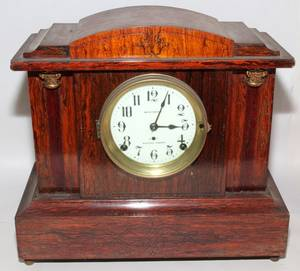 020144 SETH THOMAS ROSEWOOD MANTLE CLOCK SONORA CHIMES